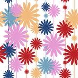 Безшовная картина с стильными цветами иллюстрация вектора
