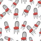 Безшовная картина с стулами Стоковое Фото