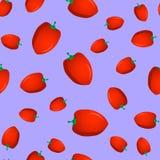 Безшовная картина с сладостным перцем Стоковое Изображение