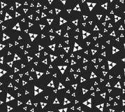 Безшовная картина с случайными, поделенными на сегменты треугольниками - абстрактным понедельником иллюстрация вектора
