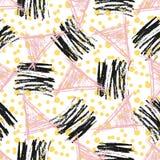 Безшовная картина с текстурами grunge Нарисованная рукой предпосылка битника моды Вектор для сети, печати, ткани, ткани, приглаше бесплатная иллюстрация