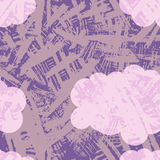 Безшовная картина с текстурированными помарками бесплатная иллюстрация