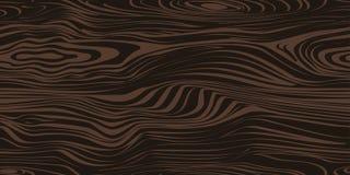 Безшовная картина с темной деревянной текстурой Стоковое Изображение