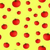 Безшовная картина с томатами Стоковое фото RF