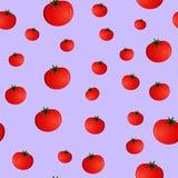 Безшовная картина с томатами Стоковое Изображение