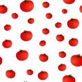 Безшовная картина с томатами Стоковые Фото