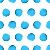 Безшовная картина с точками яркого блеска блеска Голубые помарки притяжки Ручной работы белизна изолированная предпосылкой Печать Стоковое фото RF