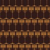 Безшовная картина с традиционными символами Хануки иллюстрация вектора