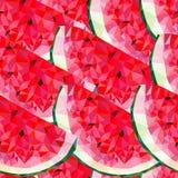 Безшовная картина с треугольниками арбуза Стоковое Фото