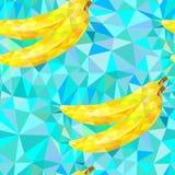 Безшовная картина с треугольниками бананов Стоковое Изображение RF