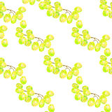 Безшовная картина с треугольниками белых виноградин, абстрактная предпосылка плодоовощ Стоковые Изображения RF