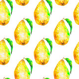Безшовная картина с треугольниками груши Стоковые Фотографии RF