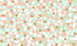 Безшовная картина с треугольниками золота яркого блеска Стоковые Фото