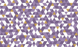 Безшовная картина с треугольниками золота яркого блеска Стоковая Фотография