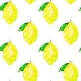 Безшовная картина с треугольниками лимона на белой предпосылке, абстрактной Стоковое Изображение