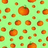 Безшовная картина с тыквами Стоковые Фото