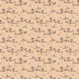 Безшовная картина с утками спать бесплатная иллюстрация
