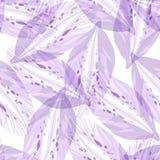 Безшовная картина с фиолетовым цветком Стоковая Фотография RF