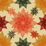 Безшовная картина с флористической абстракцией Стоковые Фотографии RF