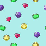 Безшовная картина с формами различных диамантов различными Бесплатная Иллюстрация