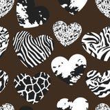 Безшовная картина с формами сердца Стоковое Изображение