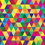 Безшовная картина с формами треугольника других цветов Иллюстрация штока