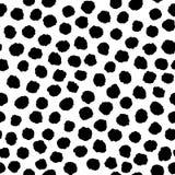 Безшовная картина с формами чернил нарисованными рукой геометрическими Стоковое Изображение