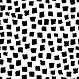 Безшовная картина с формами чернил нарисованными рукой геометрическими Стоковая Фотография