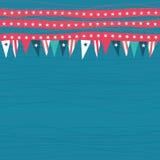 Безшовная картина с флагами с американскими цветами Стоковое Фото