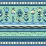 Безшовная картина с флористическим орнаментом в оформлении Стоковые Изображения RF