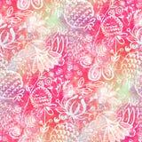 Безшовная картина с цветками акварели стоковые изображения rf