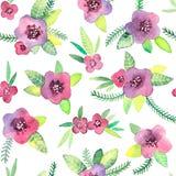 Безшовная картина с цветками в векторе Стоковое Фото