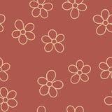 Безшовная картина с цветками для вашего дизайна вектор бесплатная иллюстрация