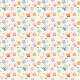 Безшовная картина с цветками и бабочками Стоковые Изображения RF