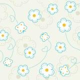 Безшовная картина с цветками и бабочками. Стоковая Фотография RF