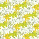 Безшовная картина с цветками лотоса Вектор запаса Стоковое Фото