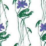 Безшовная картина с цветками лотоса Вектор запаса Стоковые Изображения RF