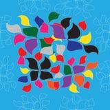 Безшовная картина с цветками Иллюстрация штока