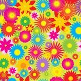 Безшовная картина с цветками Стоковые Фото