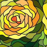 Безшовная картина с цветком мозаики Стоковое Изображение RF