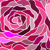 Безшовная картина с цветком мозаики Иллюстрация вектора