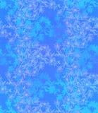 Безшовная картина с цикорием Круглый калейдоскоп цветков и флористических элементов Стоковое Изображение