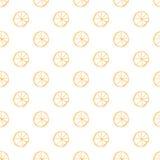 Безшовная картина с цитрусами Стоковые Изображения