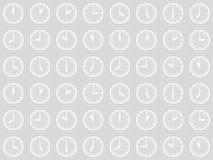Безшовная картина с часами Стоковое фото RF