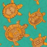 Безшовная картина с черепахами. Безшовную картину можно использовать для бесплатная иллюстрация