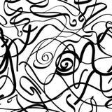 Безшовная картина с черными линиями Стоковое Изображение