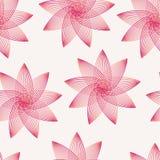 Безшовная картина с чувствительными, розовыми цветками Стоковая Фотография RF