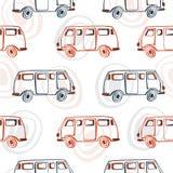 Безшовная картина с шинами doodle Стоковые Изображения