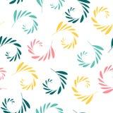 Безшовная картина с элементами завода Флористические обои с ветвями с листьями Искусство можно использовать для обоев, упаковки,  иллюстрация штока
