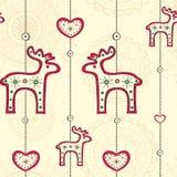 Безшовная картина с этническим украшением рождества Стоковое Изображение